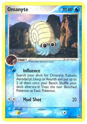 1x Omanyte - 56/108 - Common - Reverse Holo NM-Mint Pokemon EX - Power Keepers