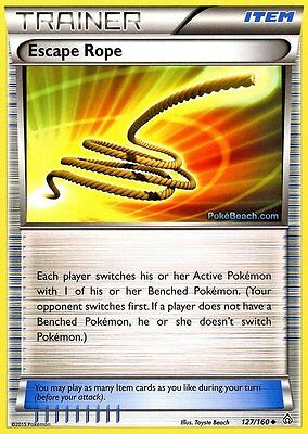 Escape Rope 127/160 - Primal Clash Pokemon Trainer Card New Mint