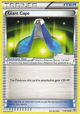 Bw Dragons Exalted Pokemon Trainer Card - Giant Cape 114/124