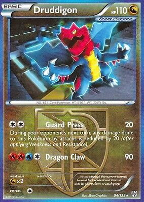 Druddigon 94/135 - Bw Plasma Storm Pokemon Rare Card - In Stock Now!