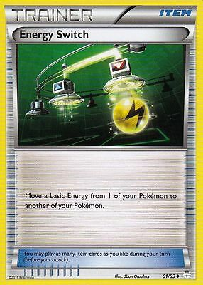Energy Switch Rev Holo 61/83 Generations Pokemon Trainer Card 20th Anniversary