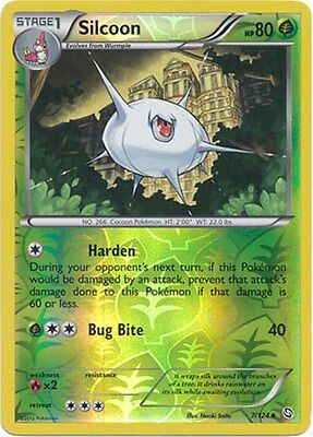 Silcoon 7/124 B&W Dragons Exalted REVERSE HOLO PERFECT MINT! Pokemon