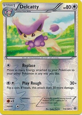 Delcatty 114/160 XY Primal Clash REVERSE HOLO PERFECT MINT! Pokemon