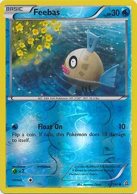Feebas 43/160 XY Primal Clash REVERSE HOLO PERFECT MINT! Pokemon