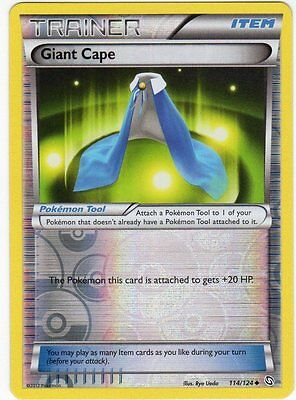 Giant Cape 114/124 B&W Dragons Exalted REVERSE HOLO MINT! Pokemon