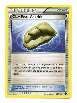 Claw Fossil Anorith 100/114 Rev Holo Xy Steam Siege Pokemon Trainer Card