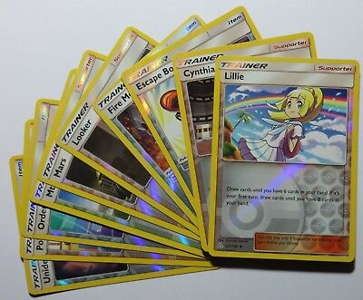 SUN & MOON ULTRA PRISM - Reverse Holo Pokemon TRAINER Cards (Select your card)
