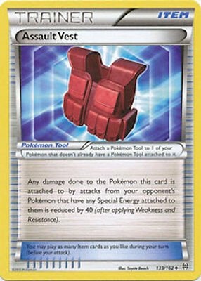 Assault Vest 133/162 XY Breakthrough Uncommon PERFECT MINT! Pokemon