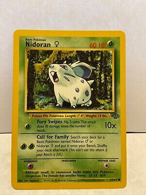Pokemon Card From Jungle Set Common Card - Nidoran (57/64)