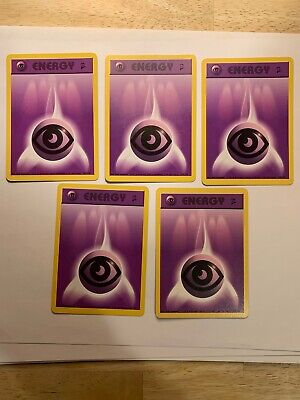 5x Psychic Energy - 129/130  - Common NM Base Set 2 Pokemon