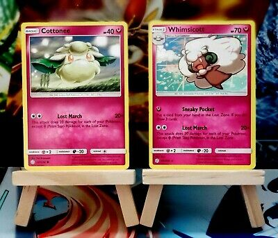 Cottonee [147/236] + Whimsicott [148/236] Rare, SM Cosmic Eclipse, Pokemon TCG