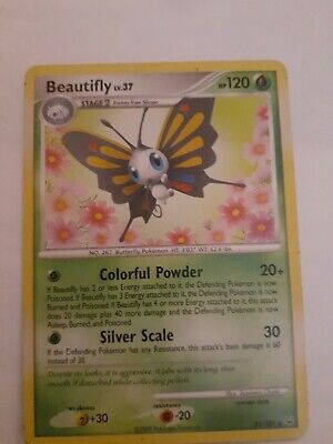 1x Beautifly - 21/127 - Rare NM-Mint Pokemon Platinum