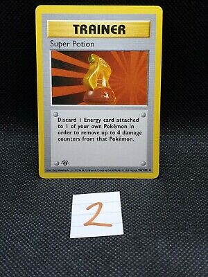 Pokemon Super Potion FIRST Edition Shadowless Base Set NM/M - NEVER USED 2