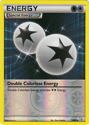 Double Colorless Energy 74/83 XY Generations Reverse Holo Uncommon Pokemon Card