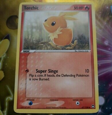 TORCHIC - 67/108 - EX Power Keepers Pokemon Card - Excellent EXC