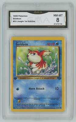 1999 Pokemon Jungle 1st Edition #53 Goldeen Graded GMA 8 Nm-Mt I