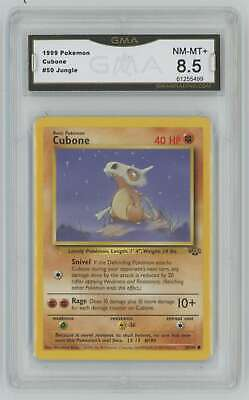 1999 Pokemon Jungle Unlimited #50 Cubone GMA 8.5 Nm-Mt+ R1