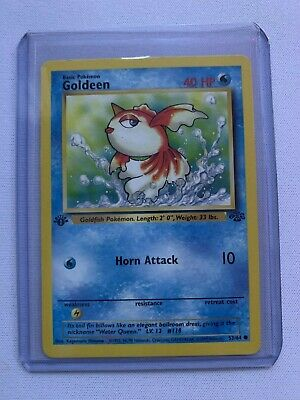 Pokemon Goldeen 1st Edition 53/64 Jungle Non Holo Uncommon Near Mint Condition