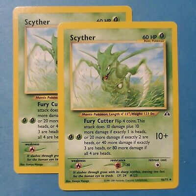 Scyther 46/75 Uncommon Neo Discovery Set Pokemon Card, NM