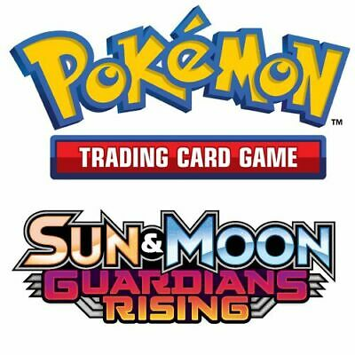 Pokemon Sun & Moon Guardians Rising - Choose Your Reverse Holo Trading Cards