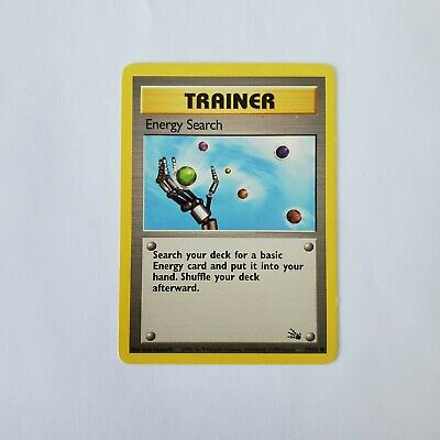 Pokemon Fossil Trainer Energy Search MP 59/62 TCG Card Game 1999 Unlimited