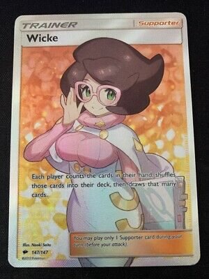 Pokemon Wicke 147/147 Full Art Holo Rare Burning Shadows Near Mint