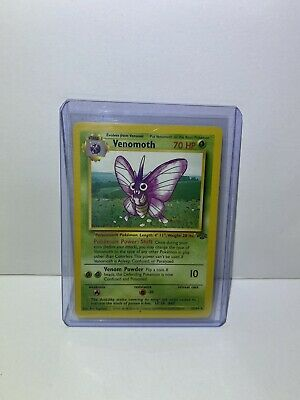Venomoth 29/64 Non Holo Rare Pokemon Card WOTC Jungle Set
