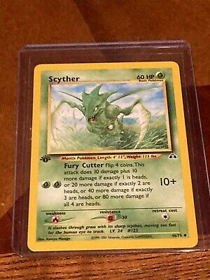 Scyther Uncommon Neo Discovery 1st edition Pokemon card 46/75 WOTC Never Played