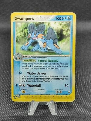 EX Ruby & Sapphire Swampert 23/109 Non-HOLO Pokemon (see photos for condition)*