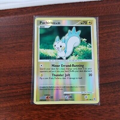 Pachirisu 35/130 Reverse Holo STAMPED Diamond & Pearl Pokemon CardM/NM