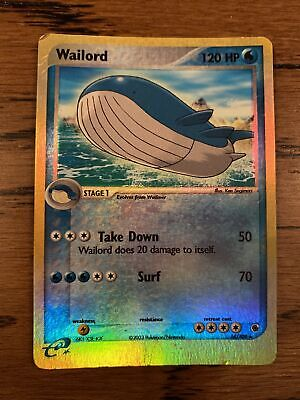 Pokemon Card Ruby And Sapphire Wailord 14/109 E Reader Rev Holo