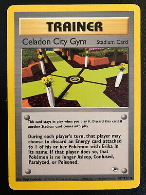 Celadon City Gym - 107/132 - Gym Heroes Unlimited Uncommon Pokemon Card - NM / M