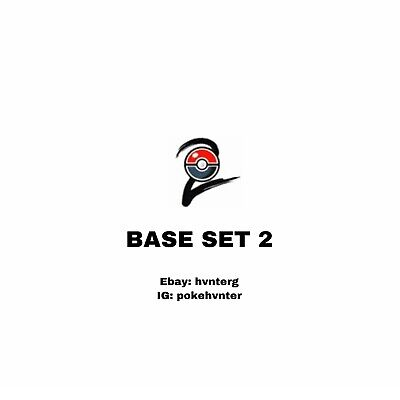 Pokemon WOTC Base Set 2 Commons/Uncommons - Pick & Build a Set - LP-NM