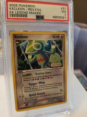 2006 Pokemon EX Legend Maker Kecleon Reverse Foil 37/92 PSA 7