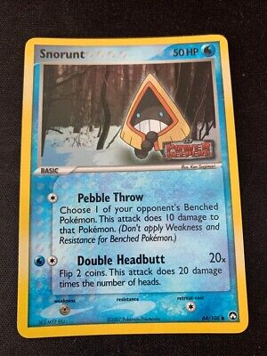 Pokemon Snorunt 64/108 Reverse Holo Common EX Power Keepers Lightly Played