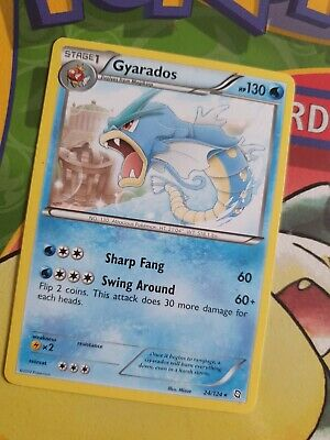 Gyarados Dragons Exalted 24/124 Holo Pokemon Card  - Excellent / Near Mint