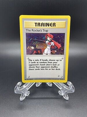 The Rocket's Trap 19/132 Unlimited Gym Heroes Holo Rare Pokemon TCG NEAR MINT