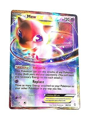 Pokemon 2012 Mew EX Ultra Rare 46/124 Dragons Exalted Creased AS-IS
