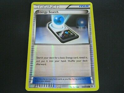 Pokemon Card Boundaries Crossed Holo Number 128 ENERGY SEARCH