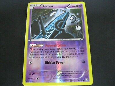 Pokemon Card Ancient Origins Holo Number 30 UNOWN