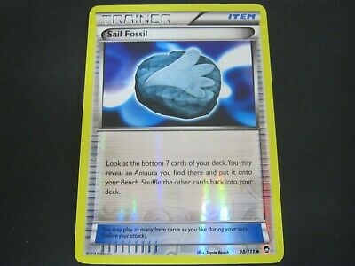 Pokemon Card Furious Fists Holo SAIL FOSSIL Number 98