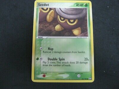 Pokemon Card Ex Power Keepers Number 60 SEEDOT
