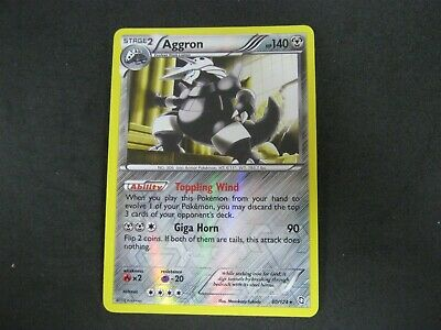 Pokemon Card (1) Dragons Exalted Holo Number 80 AGGRON