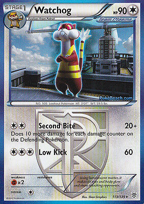 Watchog 113/135 - Bw Plasma Storm Pokemon Rare Card - In Stock Now!