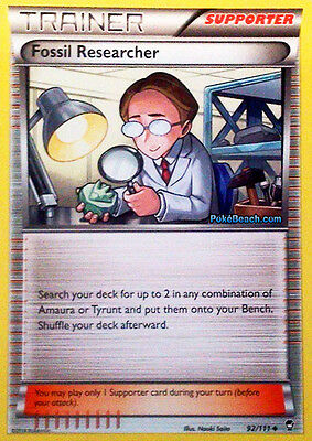 Fossil Researcher 92/111 - Xy Furious Fists Pokemon Reverse Holo Trainer Card