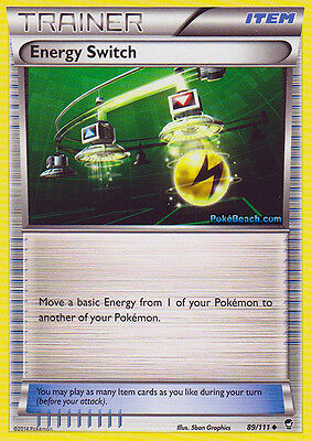 Energy Switch 89/111 - Xy Furious Fists Pokemon Reverse Holo Trainer Card