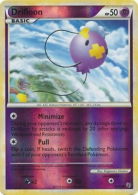 Drifloon 46/90 HS Undaunted REVERSE HOLO PERFECT MINT! Pokemon