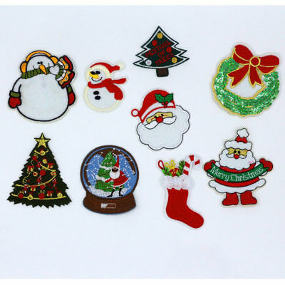Нашивки Christmas Santa Claus Iron Embroidered