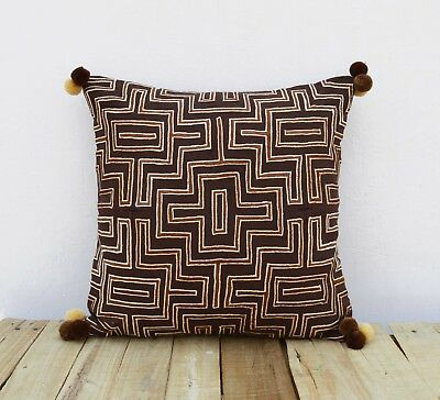 Подушка Brown colour pillow cover, embroidered,