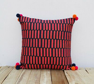 Подушка PInk and blue, pillow cover,